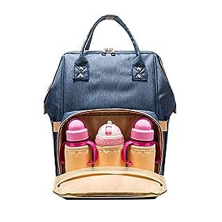 Manfore Große KapazitäT Mutifunktionale Wasserdichte Windel Rucksack/Baby Wickelrucksack/Wickeltasche/Reisetasche für Mutter Und Baby (Blau)