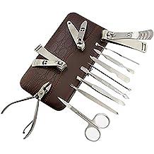Contever® Set 12 pz Personale Nail Care Acciaio Inox Set Manicure con PU Custodia