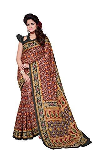 Dream Beauty Fashion Sarees Daily Wear Stripe & Geometric Print Multi-Color Cotton Sari With Blouse (Malgudi-4477)