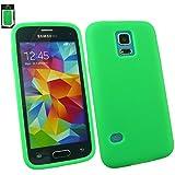 Emartbuy® Samsung Galaxy S5 Mini SM-G800 Silikon Skin Tasche Case Hülle Grün