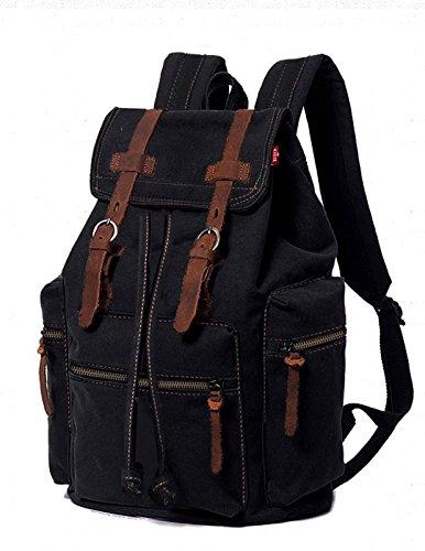 Agent X Canvas Rucksack für Herren Damen Leder Rucksack Rucksack Laptop Tote Schul Schule Military Schulter Rucksack Wandern Tasche ABA012 - Agent-laptop-tasche