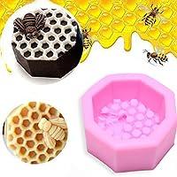 Kicode Cera de abeja Molde de silicona pasta de azúcar La decoración de la torta de la vela Jabón Hornear formación de hielo Sugarcraft moldea DIY