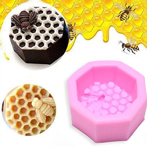 Kicode Cire d'abeille Moule en silicone Fondant Gâteau Décor Bougie Savon Cuire au four Glaçage Sugarcraft DIY moule