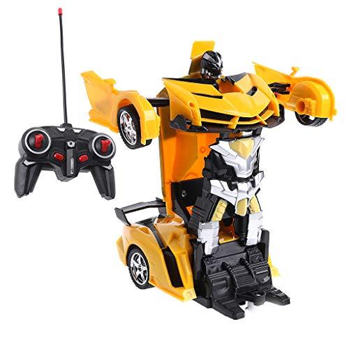 Xurgm Roboter Ferngesteuertes Auto Spielzeug RC Car Fernbedienung (Gelb)
