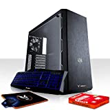 Fierce Maniac Gaming PC Bundeln - Schnell 3.6GHz Quad-Core Intel Core i3 8100, 240GB SSD, 1TB Festplatte, 8GB 2666MHz, AMD Radeon RX 560 2GB, Tastatur Maus 1073385