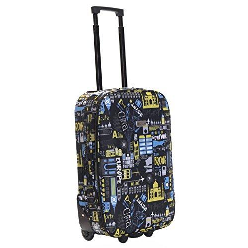 Slimbridge Algarve 55cm valigia super leggero, Nero/Blu