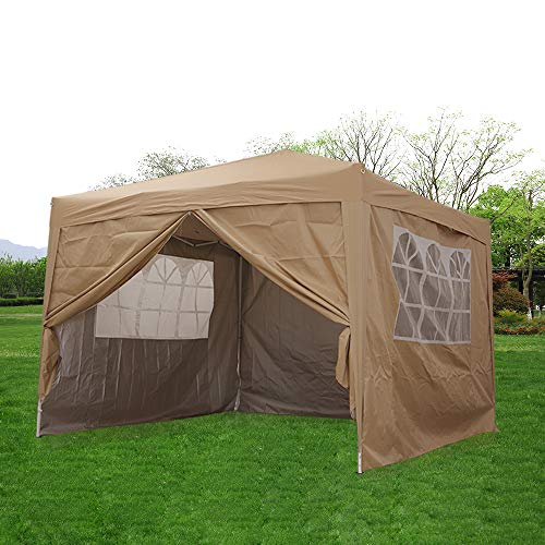 3mx3m WATERPROOF OUTDOOR GARDEN GAZEBO PARTY TENT MARQUEE CANOPY MULTI COLOURS