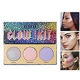 Allbesta Chameleon Highlighter Makeup Palette Bronzer Glühen Schimmern Kristall Zucker 3 Farben