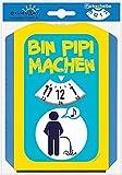 EigenArt Parkscheibe mit Spaßmotiv (Bin Pipi machen)