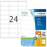 Herma 8638 Universal Etiketten (70 x 36 mm) weiß, 240 Adressaufkleber, 10 Blatt DIN A4 Premium Papier matt, bedruckbar, selbstklebend
