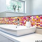 Mosaico De Ladrillo Etiqueta De La Pared Pegatina De Azulejo Para Cocina Y Baño Impermeable Antimoho 4 Piezas 100 * 20 Cm Retro Perly Azulejo De La Etiqueta Engomada Calcomanías Para Paredes