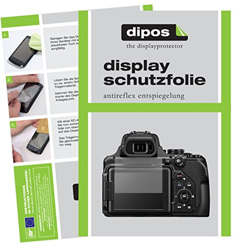 dipos I 6X Schutzfolie matt passend für Nikon Coolpix P1000 Folie Displayschutzfolie