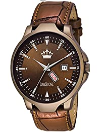 Limestone Day And Date Functioning Wood Coat Series Analog Watch For Men/Boys - (LS2743)