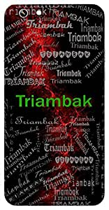 Triambak (Lord Shiva) Name & Sign Printed All over customize & Personalized!! Protective back cover for your Smart Phone : Samsung Galaxy A-3