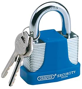 Draper 64182 High Security Laminated Padlock 50 Millimeters