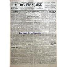 ACTION FRANCAISE (L') [No 259] du 16/09/1935 - LA PSYCHOSE DE LEON TOLSTOI PAR LEON DAUDET - LA POLITIQUE - LA LUTTE CONTRE LE FLORIN ET CONTRE LE FRANC - ENCORE LA DEVALUATION BELGE - VERS UNE NOUVELLE DEVALUATION ? PAR G. LARPENT - VERS L'ACTION NECESSAIRE ET PROCHAINE - POUR LE SALUT ET LA DUREE DE L'ACTION FRANCAISE - FAUX OPTIMISME ET JUSTES ALARMES - TRENTE-SIXIEME TROMPERIE DE GENEVE - ANARCHIE ET BARBARIE COALISEES - ANGLETERRE ET REVOLUTION - NOUS PARTIS ?.. - LES T
