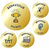 70 35mm Gold Metallic Behaviour Reward School Stickers- Teacher Awards
