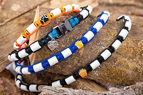 Zeckenhalsband für Hunde, EM Keramik Halsband mit Metallverschluss und maximum an EM Keramik, Maßanfertigung