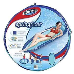 SwimWays - 6038044 -  Spring Float Original - Matelas Gonflable de Piscine Semi Immergé en Tissu - Couleur Aléatoire