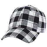 Malloom Hombres mujeres béisbol cuadros gorra Snapback sombrero hip-hop  ajustable (Negro) 6eae6342f84