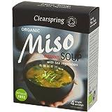 Miso - Clearspring Sopa Con Algas, 40 gr (4 porciones individuales)