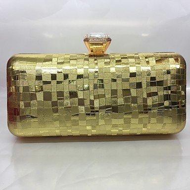 pwne Frauen Abend Tasche Pu All Seasons Formale Veranstaltung/Party Baguette Push Lock Rot Silber Schwarz Gold Champagne Gold