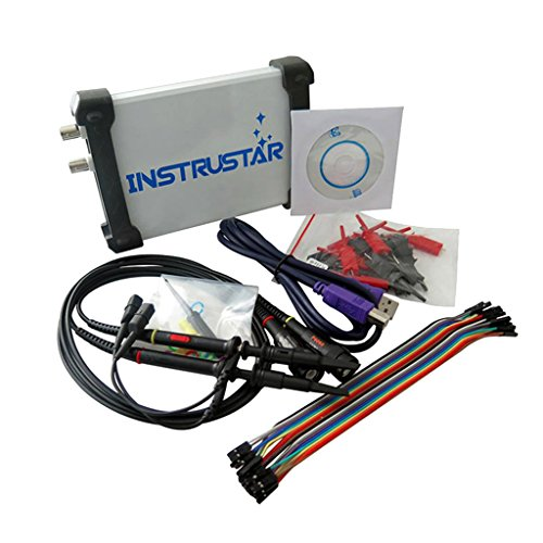Baoblaze 20MHz Oszilloskop Test Sonde mit PC USB Analoges Virtuelles Oszilloskop 16 Kanallogikanalysator