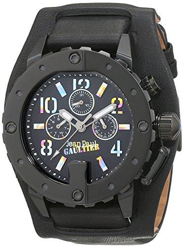 Jean Paul Gaultier 8500209 - Reloj de pulsera hombre, Cuero, color Negro