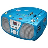 Big Ben Interactive CD46BLSTICK Lettore CD Portatile, Radio Sticker Kids, Blu
