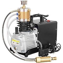 TOPQSC Compresseur d'air électrique pour compresseur d'air électrique haute pression à arrêt automatique 300BAR 30MPA 4500PSI pour fusil à air comprimé PCP