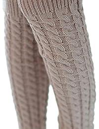 RETUROM Las nuevas mujeres calientes del invierno calentadores de la pierna  de punto Crochet calcetines largos 16fb11f3e4a