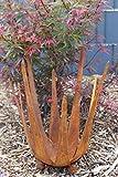 Gerry Windlicht Lotusblüte Feuerschale Dekoschale Kerzenhalter Metall Rost Deko Beet Kugel Kübel