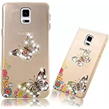 Housse de Protection Samsung Galaxy Note 4 Coque Samsung Galaxy Note 4 Etui PC Plastique Dur Hard Bumper Case Cover Shell,Vandot Ultra Mince Slim Dur Léger Coque pour Samsung Galaxy Note 4 Transparent PC Anti-Chocs Dur Hybride Etui-Shuangdie