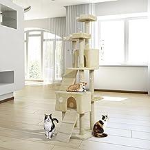 Rascador Gato Altura 55x60x181cm Arbol Poste Para Arañar Centro De Actividades