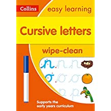 Cursive Letters Age 3-5 Wipe Clean Activity Book (Collins Easy Learning Preschool)
