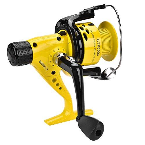 Dilwe Angelrolle Rad Korrosionsschutz Metall Schwere Leichte Spinnrolle für Salzwasser Und Süßwasserfischen(# 5000)