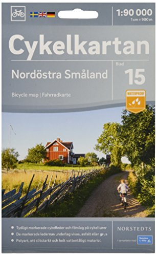 Smaland Northeast cycling map 2018