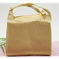 Preisvergleich für Yudanwin Leinwand-Lunch-Tasche Creative Brief Square Kühltasche Lunch Bag (Gelb)