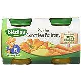 Blédina Pots Purée Carottes Potirons 6 + Mois 2 x 130 g