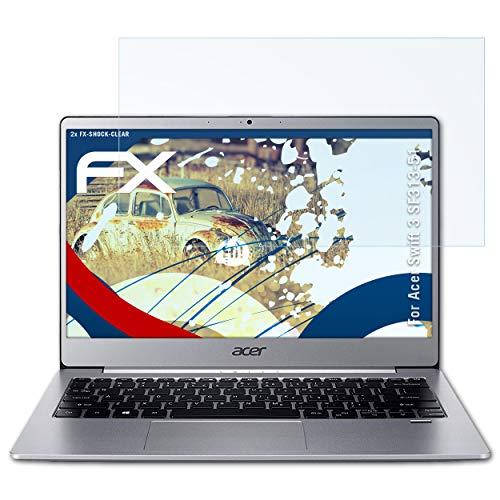 atFolix Schutzfolie kompatibel mit Acer Swift 3 SF313-51 Panzerfolie, ultraklare und stoßdämpfende FX Folie (2X)