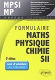 Formulaire MPSI/MP, mathématiques, physique-chimie, SII