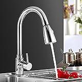 Wasserhahn ICOCO 360°Schwenkbereich Einhebel Wasserhahn Küchenarmatur Einhandmischer Spüle Küche mit herausziehbarem Brausekopf Armatur