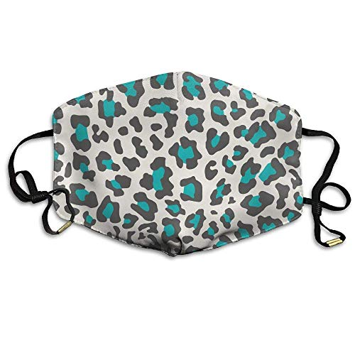 Blue Animal Print Face Mouth Mask Unisex Polyester Comfy Anti Dust Masks Animal Print Tube