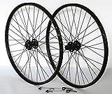 26 Zoll Fahrrad Laufradsatz Pro Disc Hohlkammerfelge schwarz Shimano Deore XT756 schwarz Niro schwarz