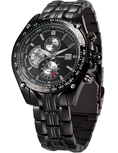 CURREN Expedition Analogue Black Dial Men's Watch – CUR022 image - Kerala Online Shopping