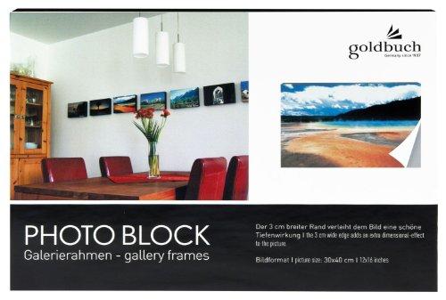 Goldbuch 871605 Wandrahmen Photo Block 30 x 40 cm, Holz, schwarz -