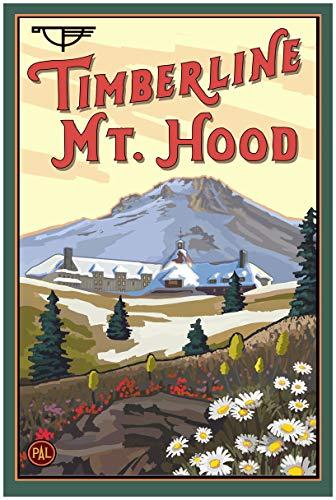 Northwest Art Mall Timberline Lodge MT Kapuze Oregon Spring Gerahmter Kunstdruck von Paul A. lanquist. 24 x 36 inch