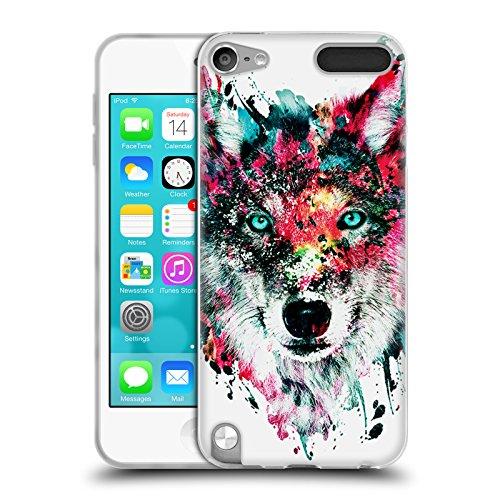 Offizielle Riza Peker Wolf Tiere Soft Gel Hülle für Apple iPod Touch 5G 5th Gen