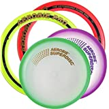 """Aerobie Flying Superdisc 10"""" And 13"""" Pro Ring, Assorted Colors, Set Of 4"""