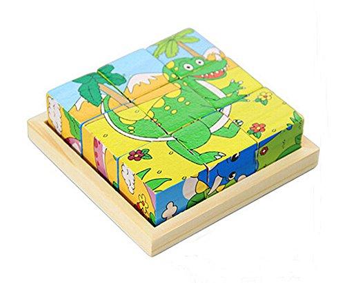 Reizender Karikatur-Tier Puzzle Kinder Spielzeug Bauklotz, Dinosaurier